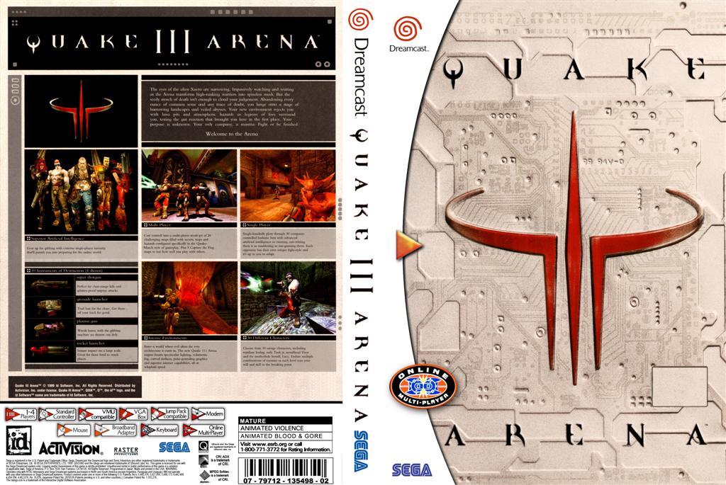 Quake III Arena USA DC-ECHELON ROM / ISO Download for Dreamcast