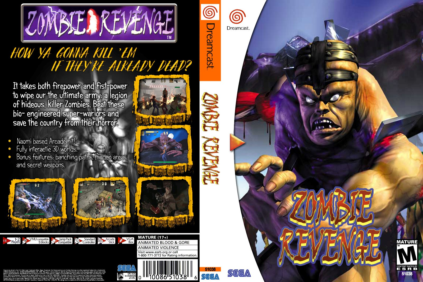 Zombie Revenge USA DC-KALISTO ROM / ISO Download for Dreamcast - Rom