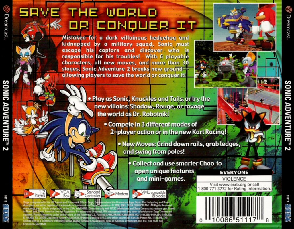 Sonic Adventure 2 USA DC-ECHELON ROM / ISO Download for Dreamcast