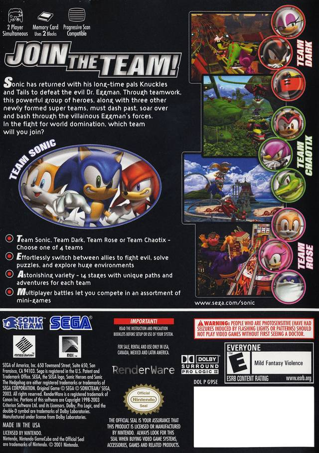 Sonic Heroes U Rockstar Rom Iso Download For Gamecube