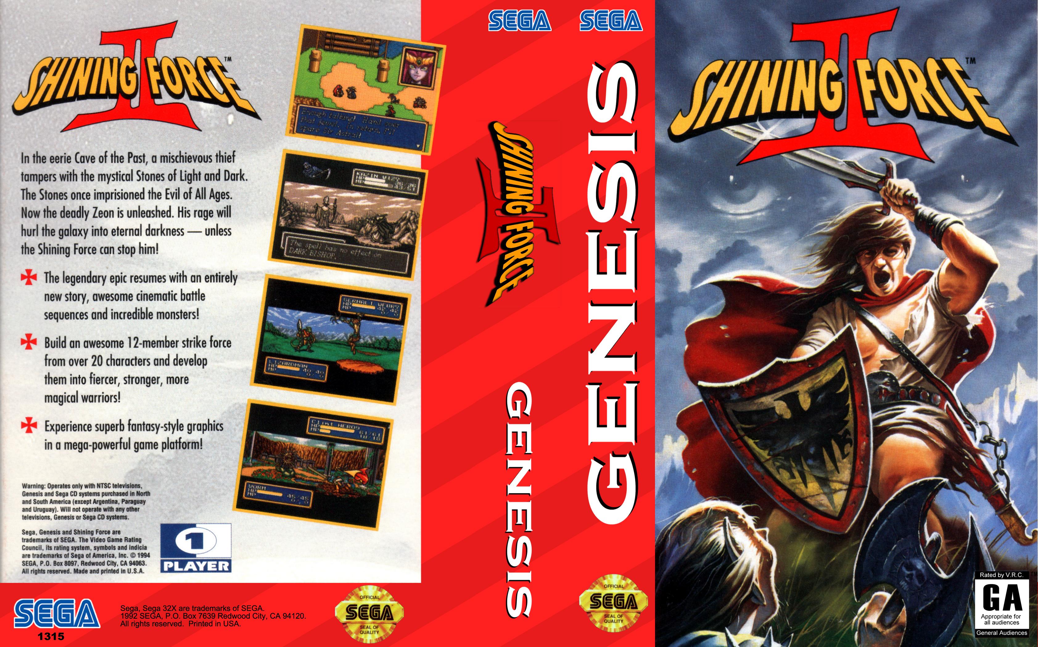 Shining Force II ROM Download for Sega Genesis - Rom Hustler