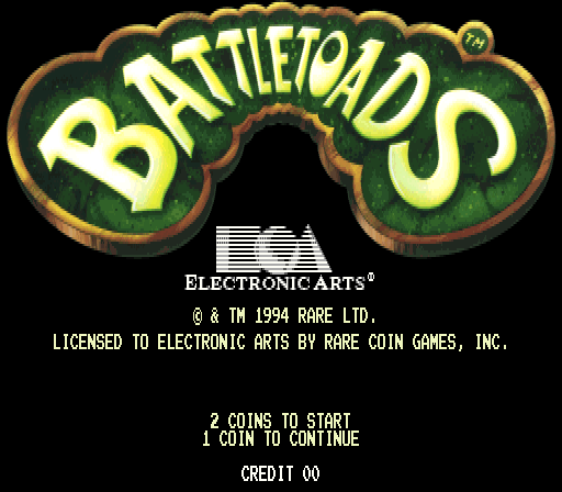 Battletoads arcade rom mame