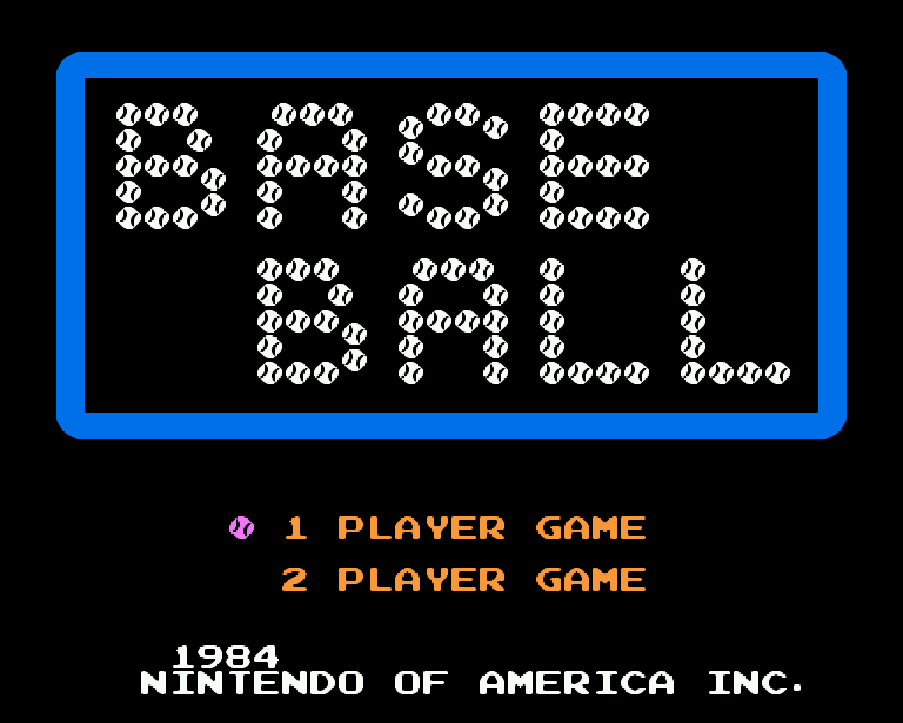 Baseball ROM Download For Nintendo NES