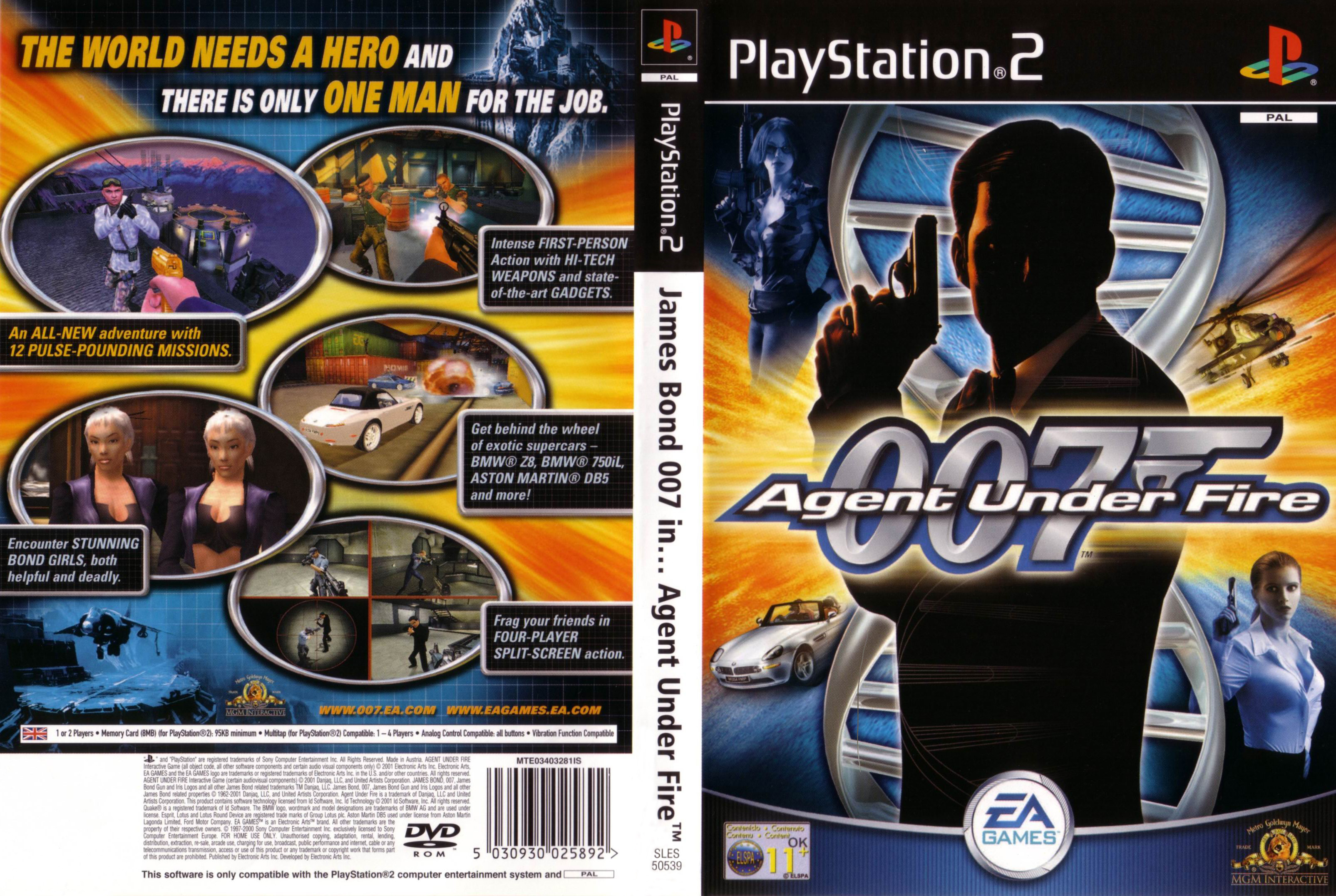 007 agent under fire (usa) rom / iso download for playstation 2.
