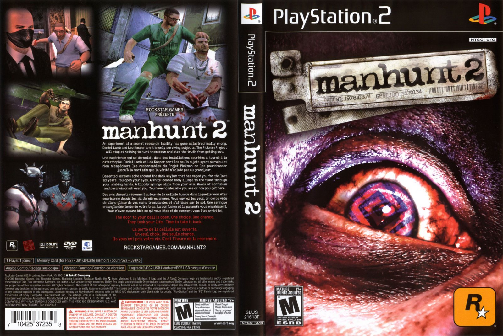 Manhunt 2 (USA) ROM / ISO Download for PlayStation 2 (PS2) - Rom Hustler
