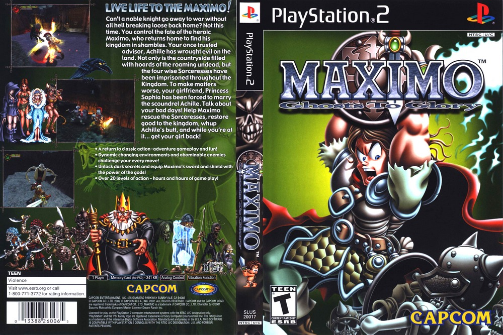 Maximo - Ghosts to Glory (USA) ROM / ISO Download for PlayStation 2
