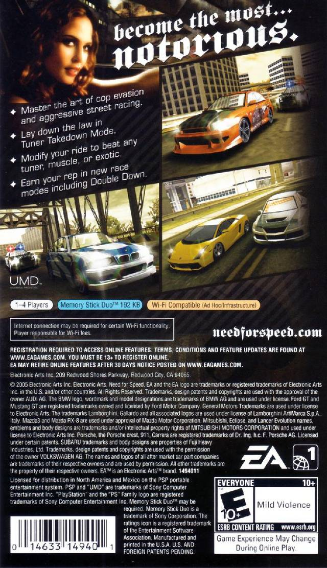Need for speed most wanted 5-1-0 (usa) psp iso nicerom. Com.
