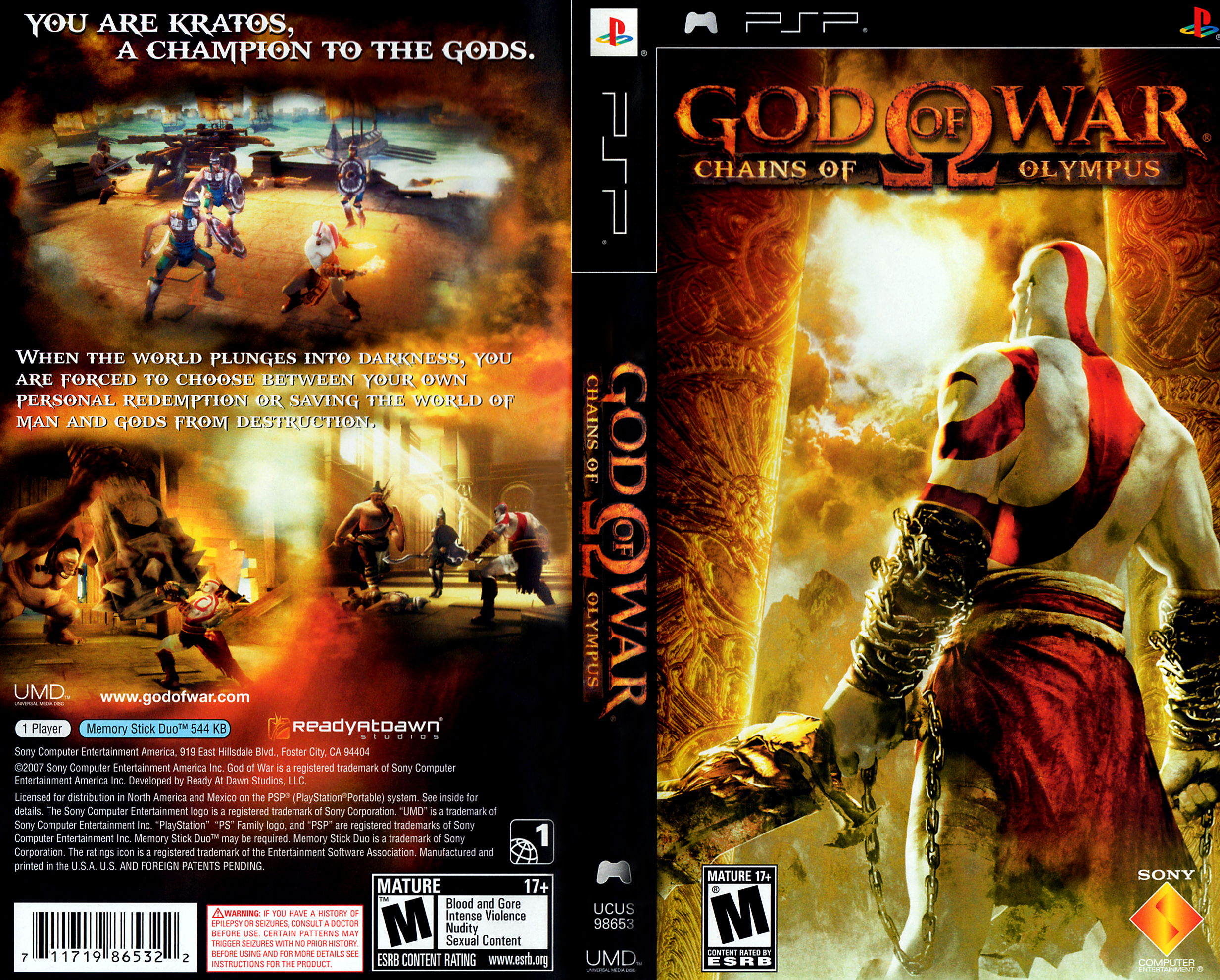 God of War - Chains of Olympus (U)(PSN) ROM / ISO Download for PSP