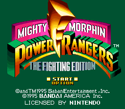 Mighty Morphin Power Rangers  The Fighting Edition ROM Download